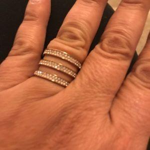 NWT MK 3 Band Ring Michael Kors Rose 🌹 Gold RING